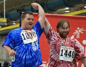 I concorrenti alle olimpiadi speciali