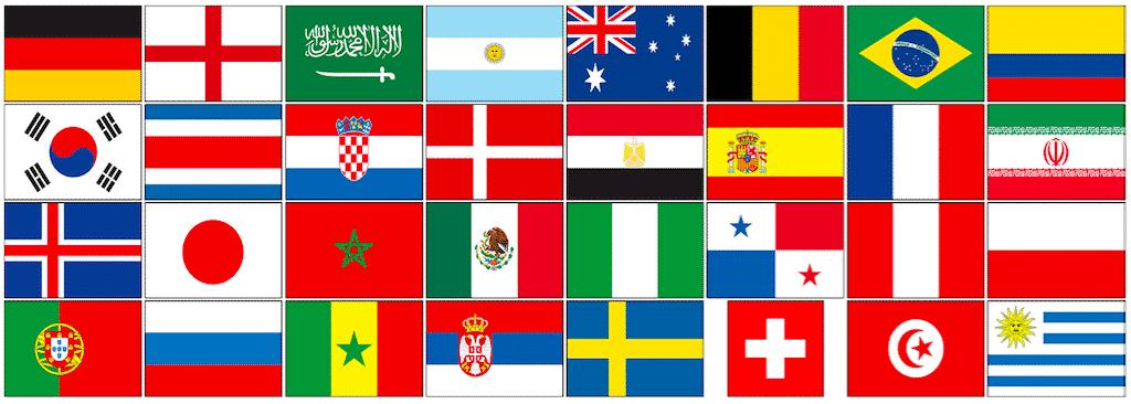 bandiere squadre russia calcio 2018