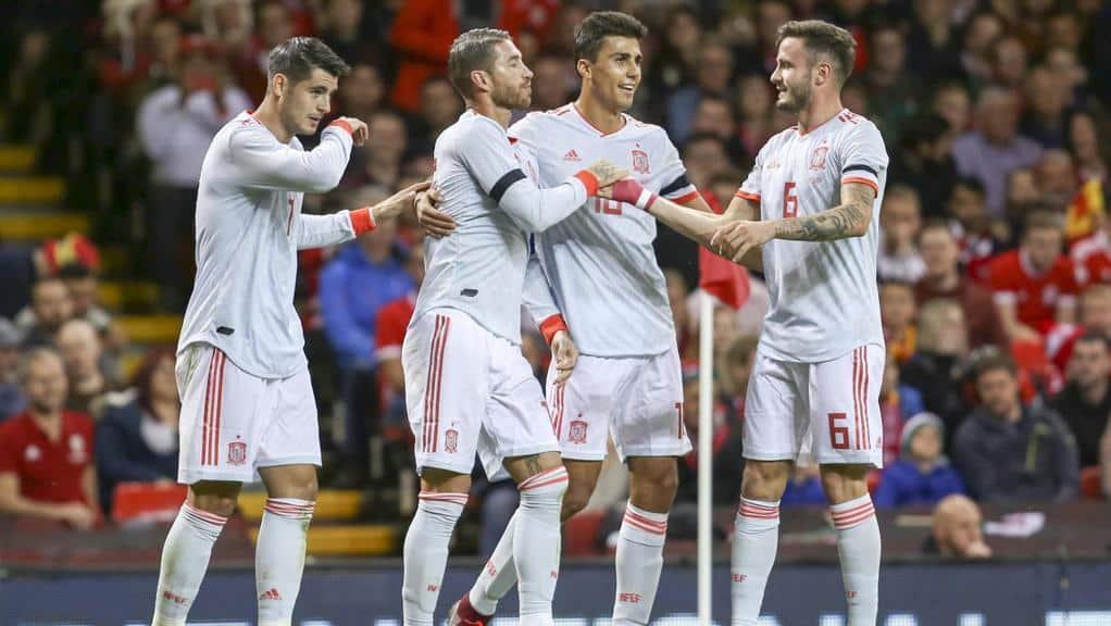 La nazionale della Spagna impegnata nella UEFA Nations League