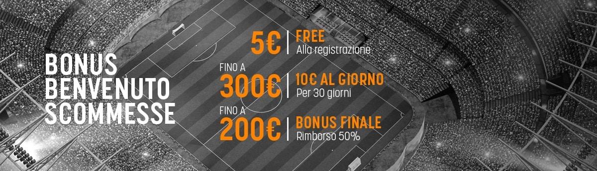 Bonus di benvenuto SNAI: Sport 505