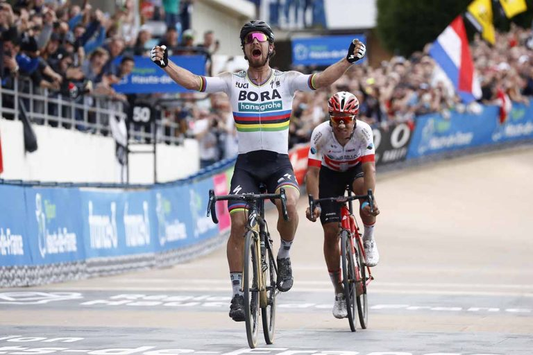 Peter Sagan vincitore della Roubaix 2018