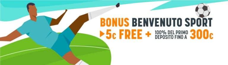 Benvenuto Sport: il bonus di SNAI per i nuovi utenti
