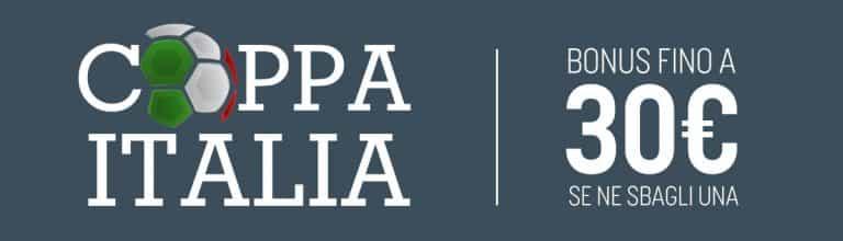 Bonus SNAI: Coppa Italia col Kasko