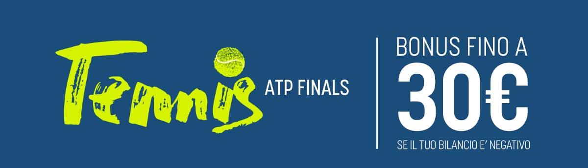 I Bonus SNAI per le scommesse sportive: ATP FINALS AL SICURO