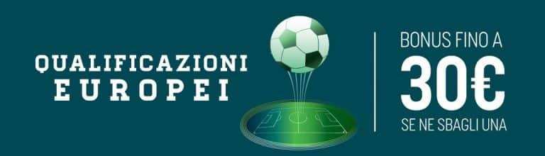 I Bonus SNAI per le scommesse sportive: EURO 2020 AL SICURO