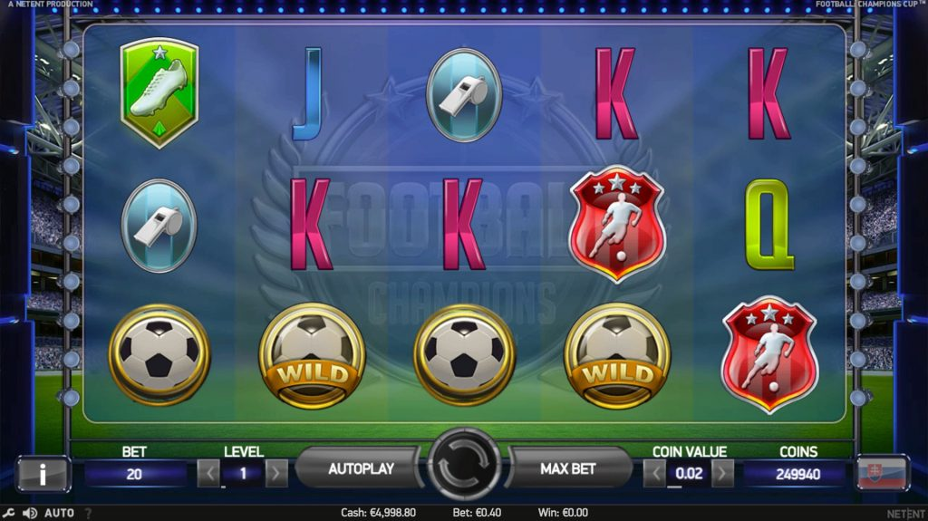 screenshot Champions Cup Slot