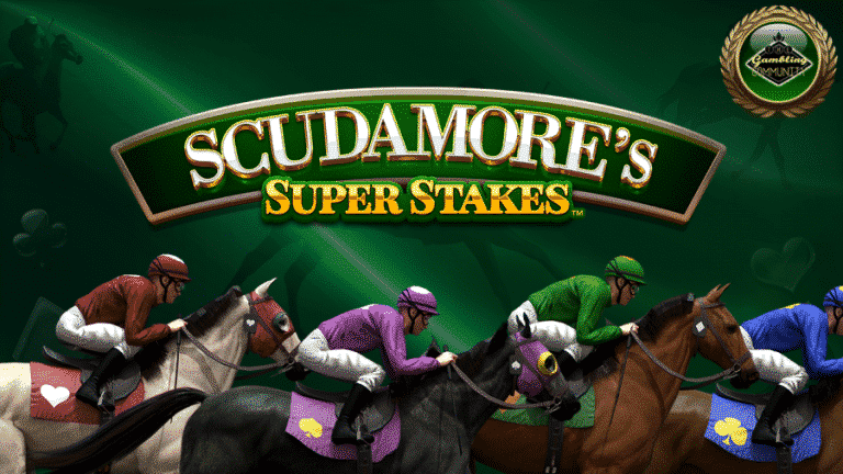 Scudamore's Super Stakes Slot Machine Logo