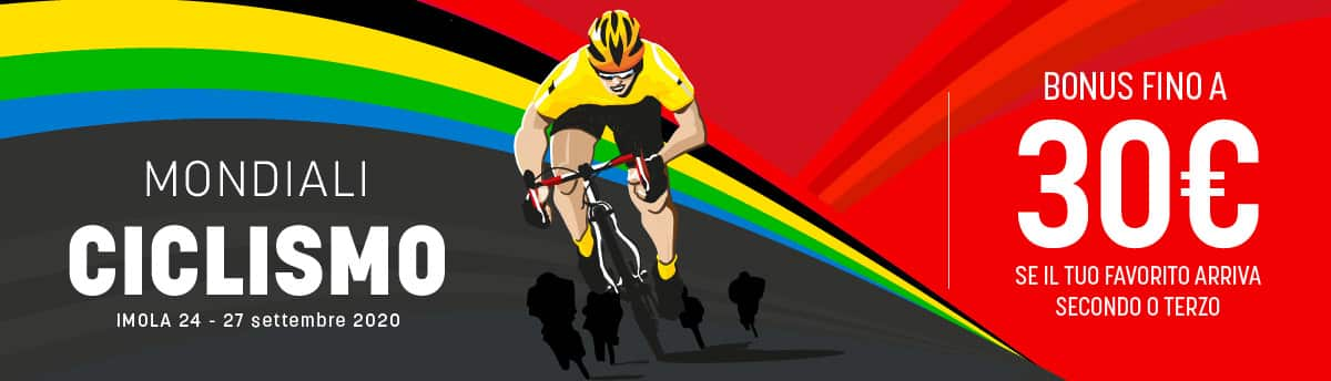 Scommesse Ciclismo Offerta SNAI sui mondiali di ciclismo 2020