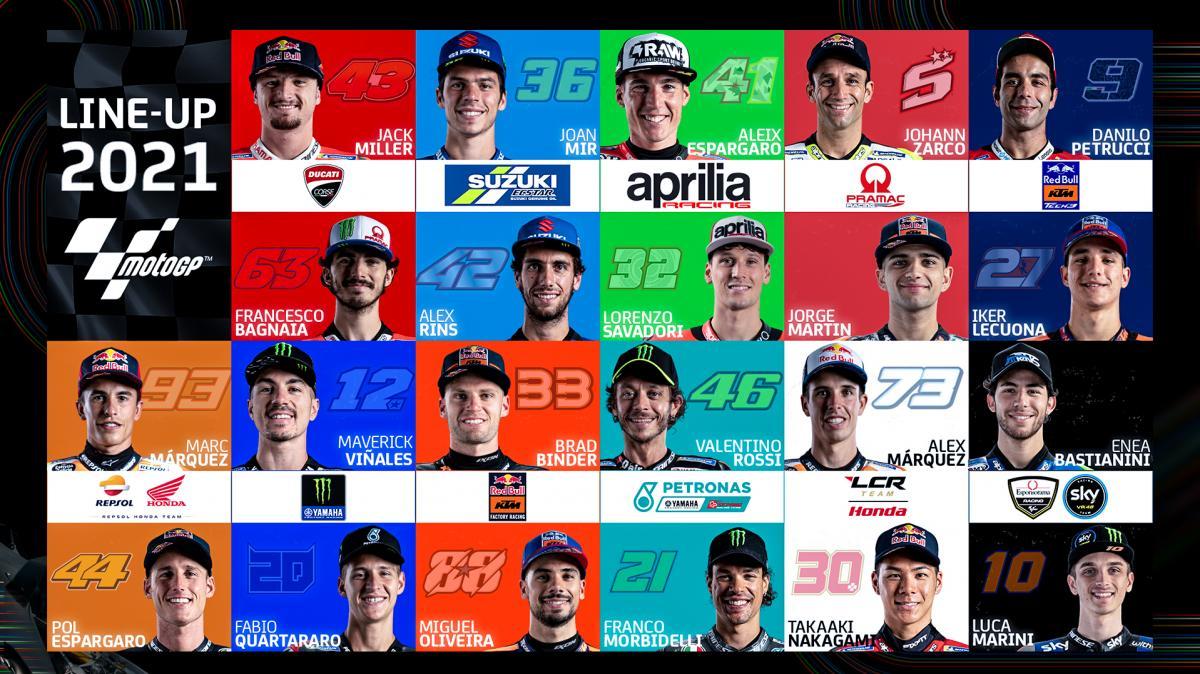 I piloti MotoGP2021