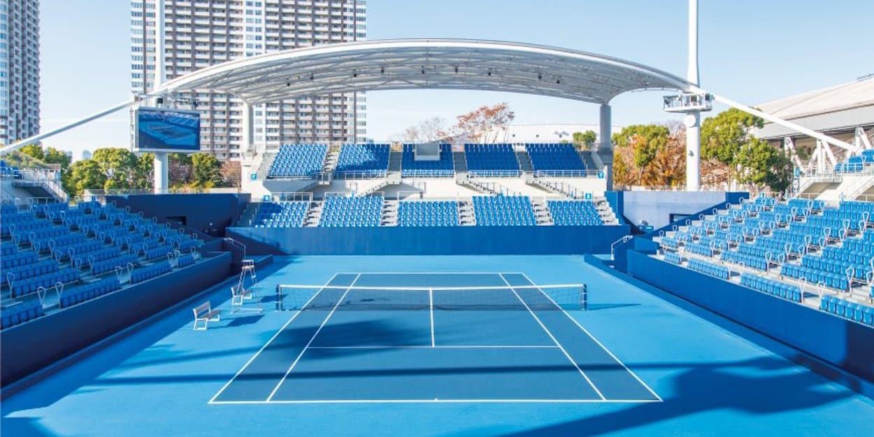 Il tennis park di Tokyo 2020